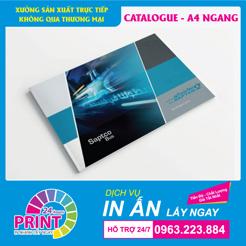 In catalogue A4 ngang giá rẻ tại In An Anh